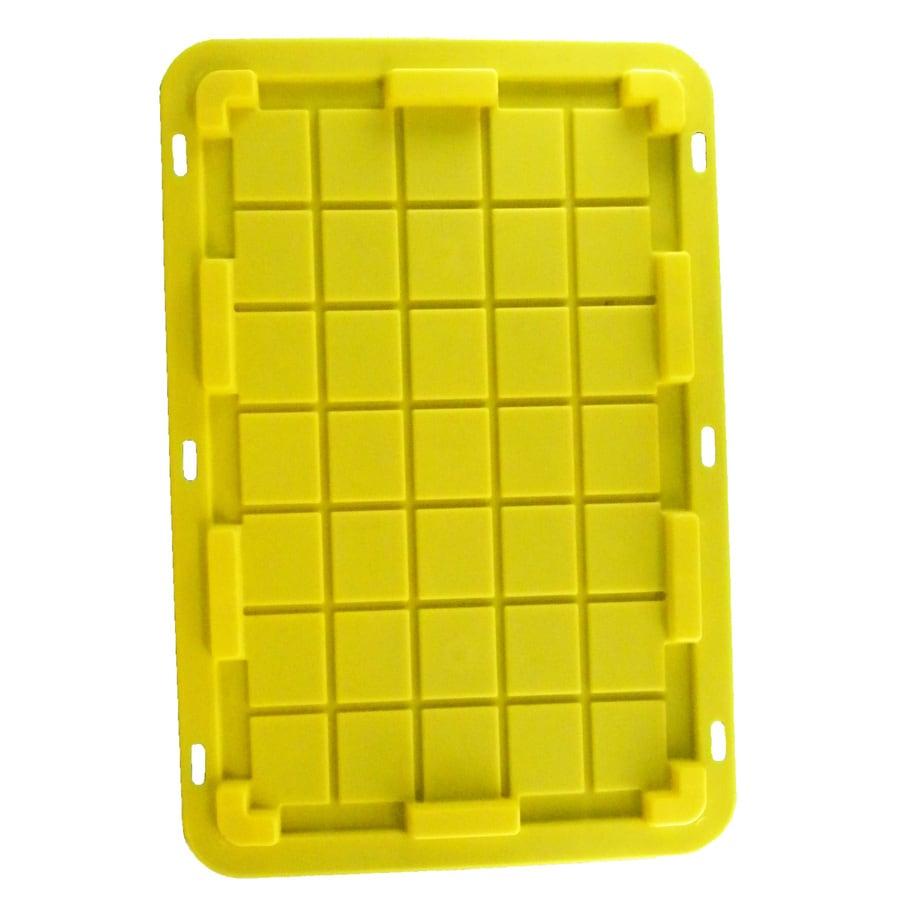 Centrex Plastics, LLC Commander 20.75-in x 30.625-in Yellow Standard Snap Plastic Lid