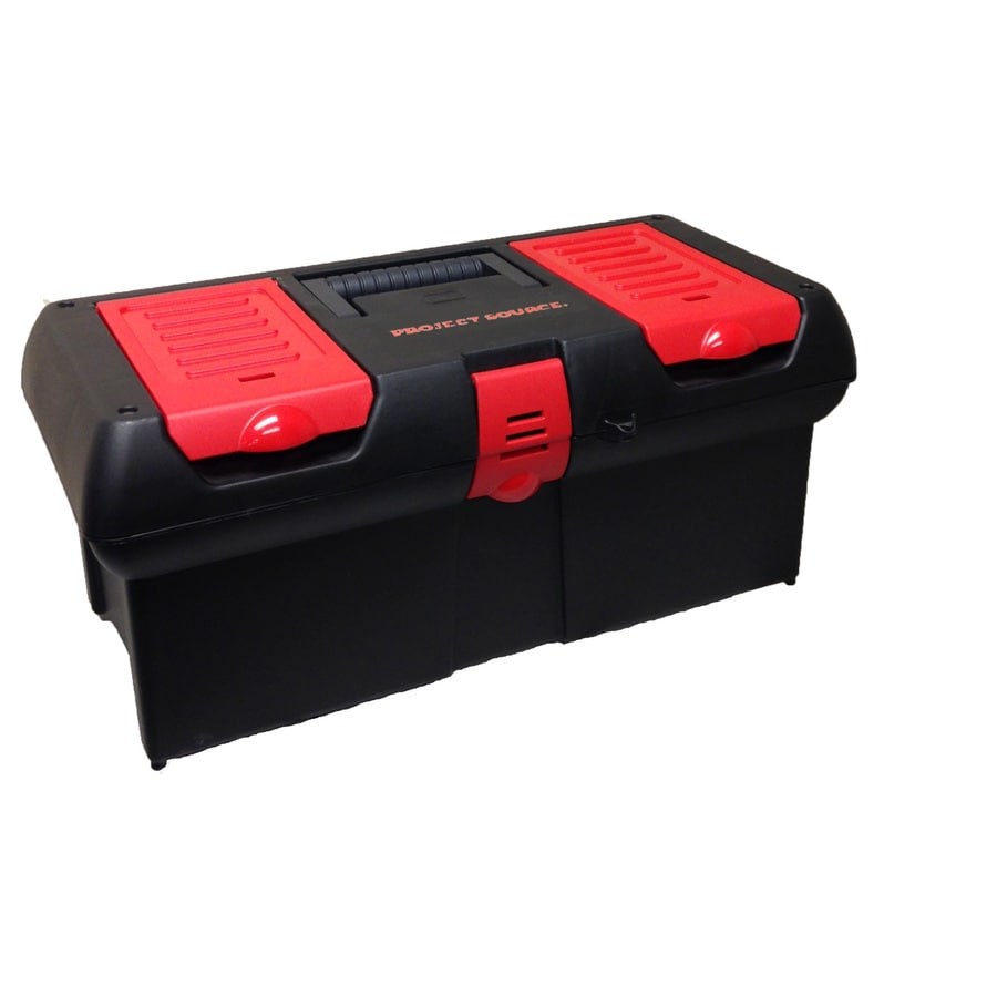 Project Source 16-in Black Plastic Lockable Tool Box