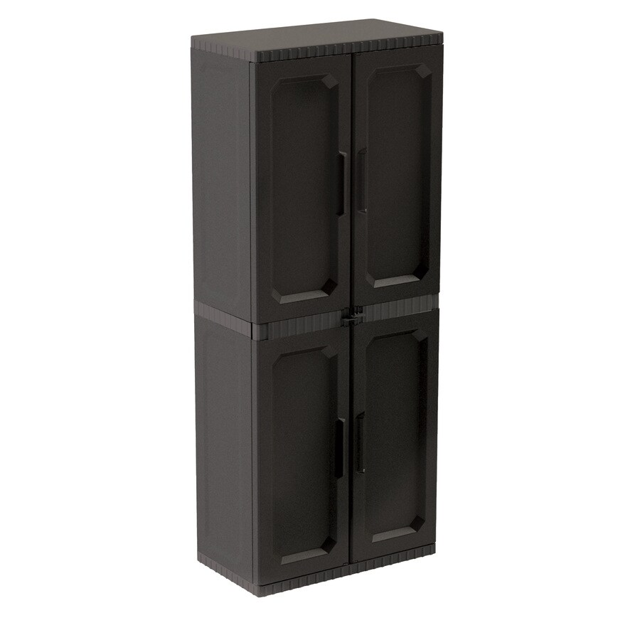 Project Source 27.4-in W x 66.6-in H x 15.3-in D Plastic Garage Cabinet