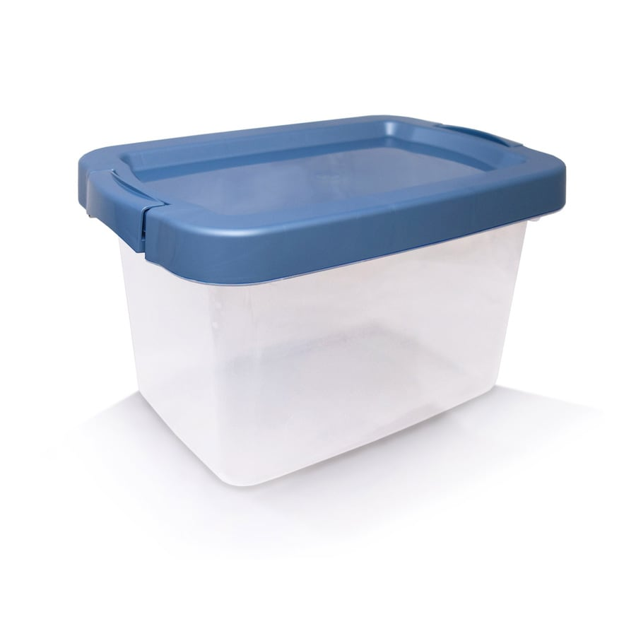 Centrex Plastics, LLC Rugged 4.75-Gallon Clear Tote with Latching Lid
