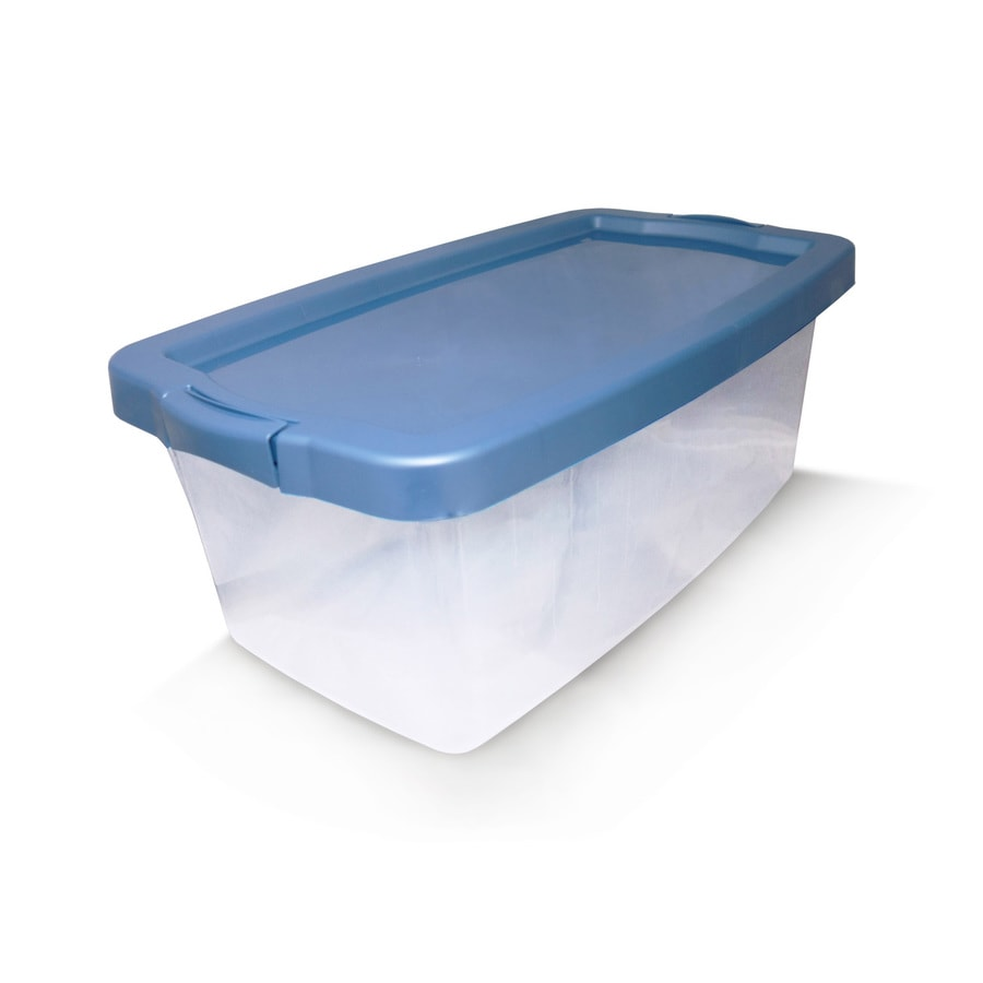 Centrex Plastics, LLC Rugged 12.5-Gallon Clear Tote with Latching Lid