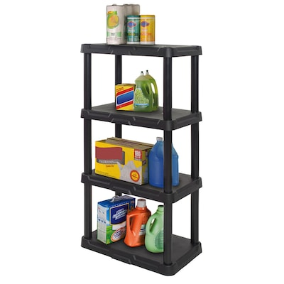 Blue Hawk 14 25 In D X 22 In W X 48 In H 4 Tier Plastic Utility Shelving Unit In The Freestanding Shelving Units Department At Lowes Com