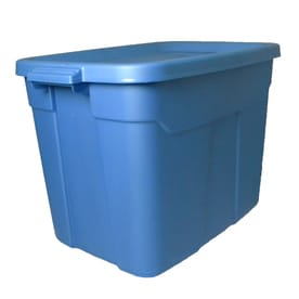 Centrex Plastics, LLC Rugged Tote 72 Quart Blue Tote With Standard Snap Lid