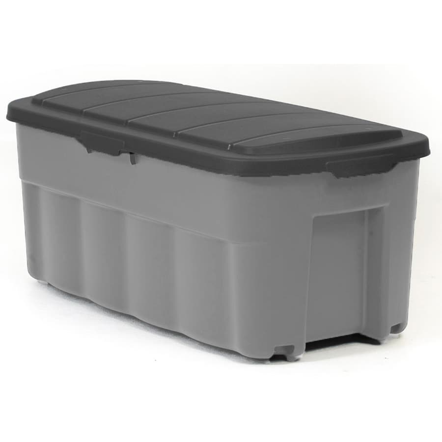 Centrex Plastics, LLC Rugged Tote 50-Gallon Gray Tote with Standard Snap Lid