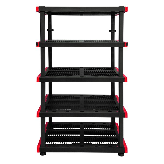 Craftsman 24-in D x 40-in W x 72-in H 5-Tier Plastic Freestanding Shelving Unit