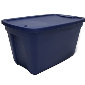 Style Selections 18-Gallon (72-Quart) Navy Tote with Standard Snap Lid