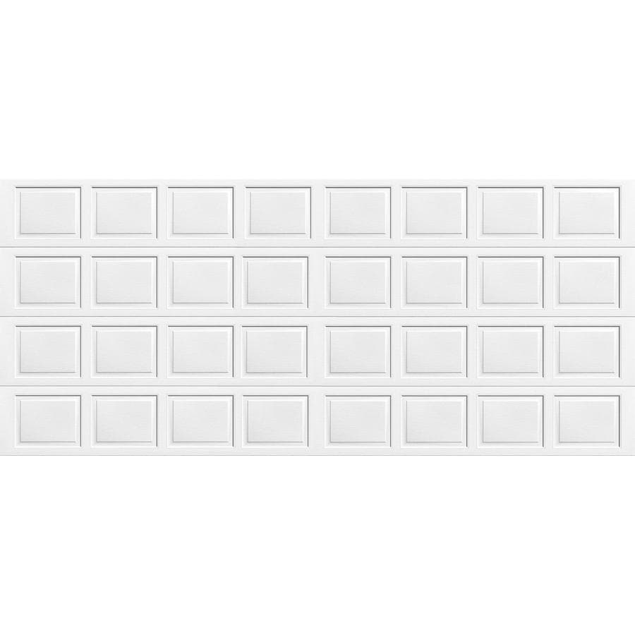 Shop wayne dalton 8000 series 192 in x 84 in white double garage door at - Wayne dalton garage door panels ...