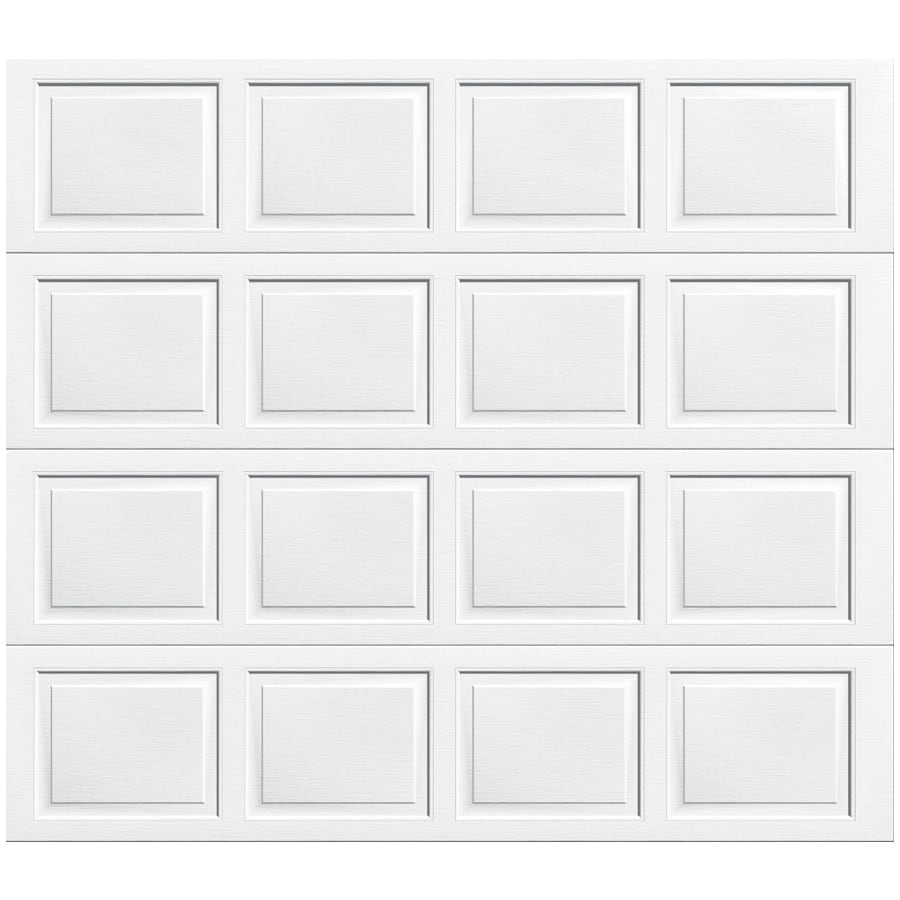 Shop wayne dalton 9100 series 108 in x 84 in insulated white single garage door at - Wayne dalton garage door panels ...
