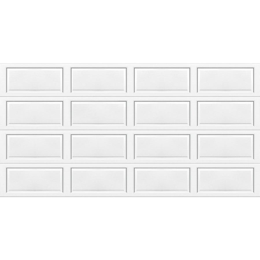 Wayne-Dalton 9100 Series 192-in x 84-in Insulated White Double Garage Door
