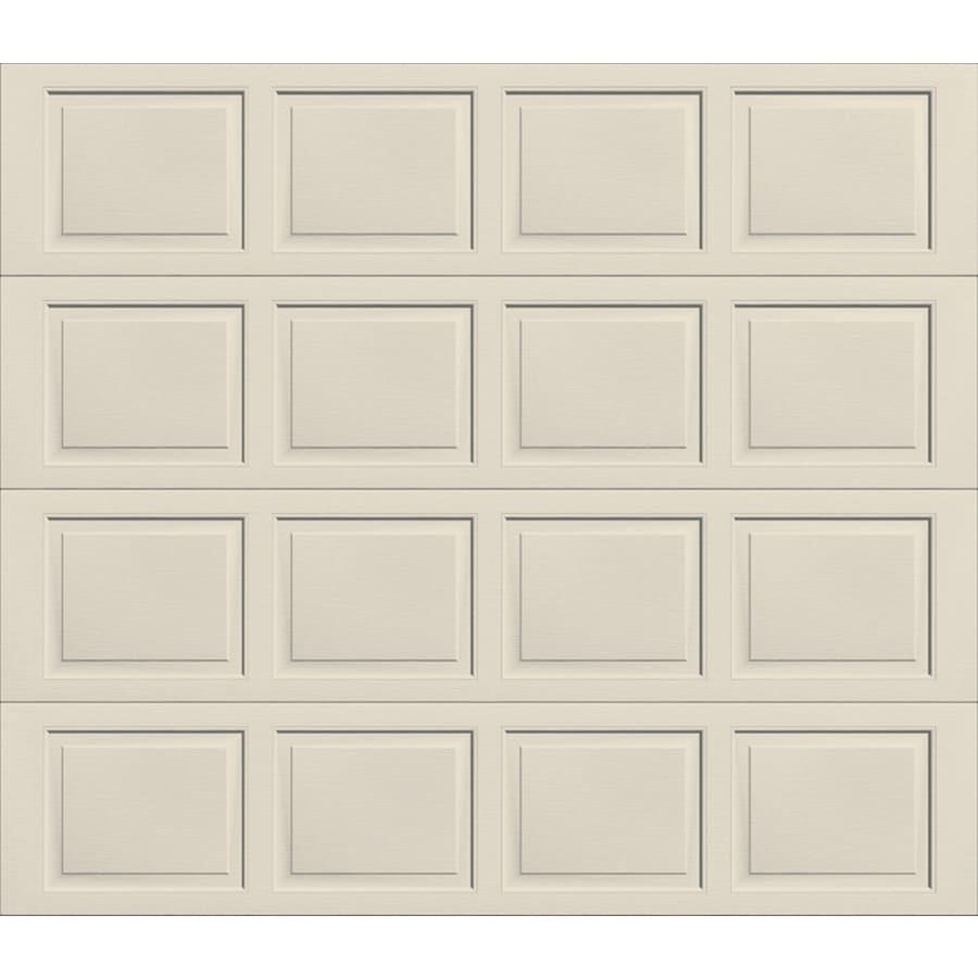 Shop Wayne Dalton 9100 Series 108 In X 84 In Insulated Almond Single
