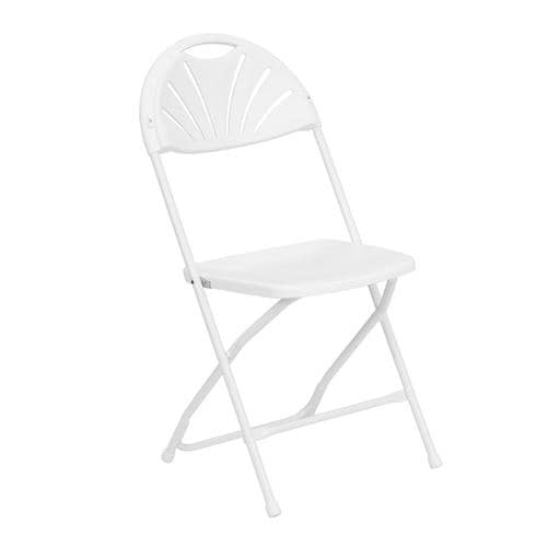 Outstanding Flash Furniture Outdoor White Plastic Solid Standard Folding Chair At Lowes Com Ibusinesslaw Wood Chair Design Ideas Ibusinesslaworg
