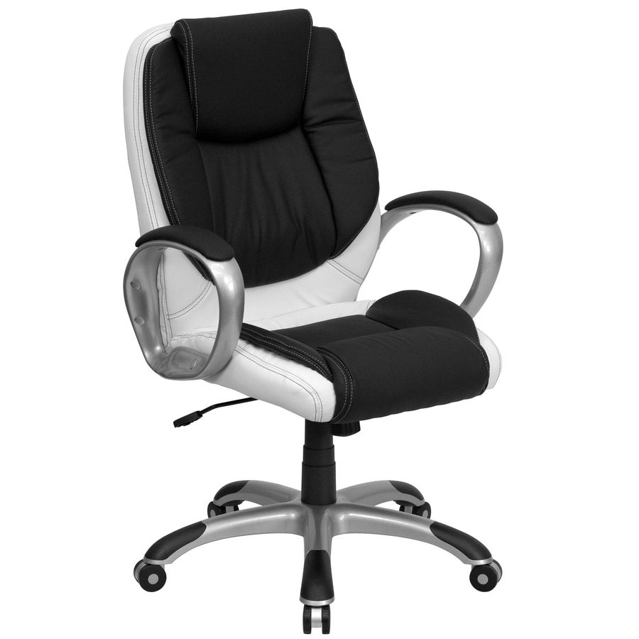 Flash Furniture Black And White Contemporary Executive Chair At