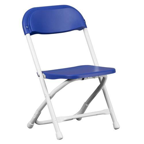 Flash Furniture Kids Blue Plastic Folding Chair At Lowes Com