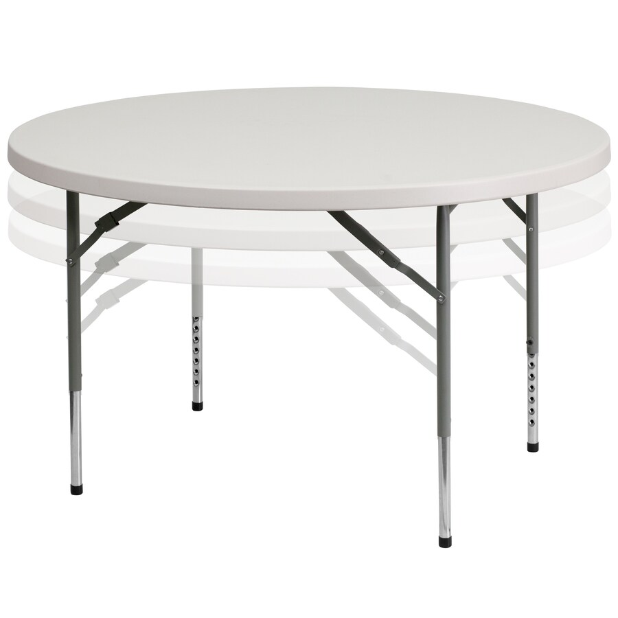 Flash Furniture 4 Ft X 4 Ft Indoor Round Plastic White Folding Banquet Table In The Folding Tables Department At Lowes Com