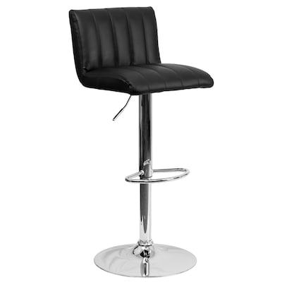 Super Flash Furniture Black Adjustable Stool At Lowes Com Machost Co Dining Chair Design Ideas Machostcouk
