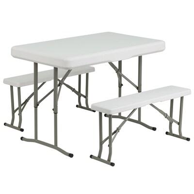 Wondrous Plastic Folding Table And Bench Set Spiritservingveterans Wood Chair Design Ideas Spiritservingveteransorg