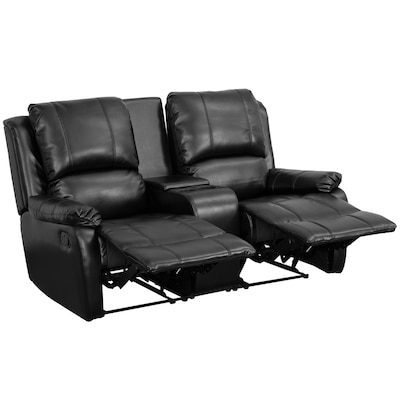 Prime Allure Series Modern Black Faux Leather Reclining Loveseat Andrewgaddart Wooden Chair Designs For Living Room Andrewgaddartcom