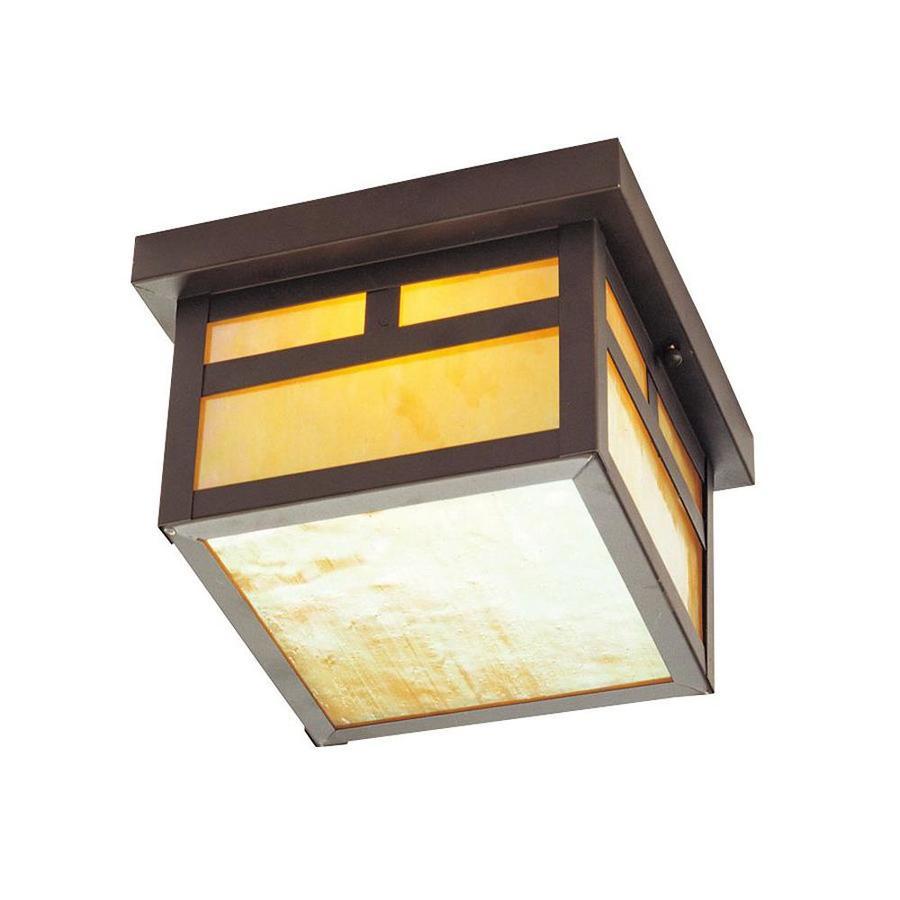 Aberdeen 8-in W Bronze Outdoor Flush-Mount Light