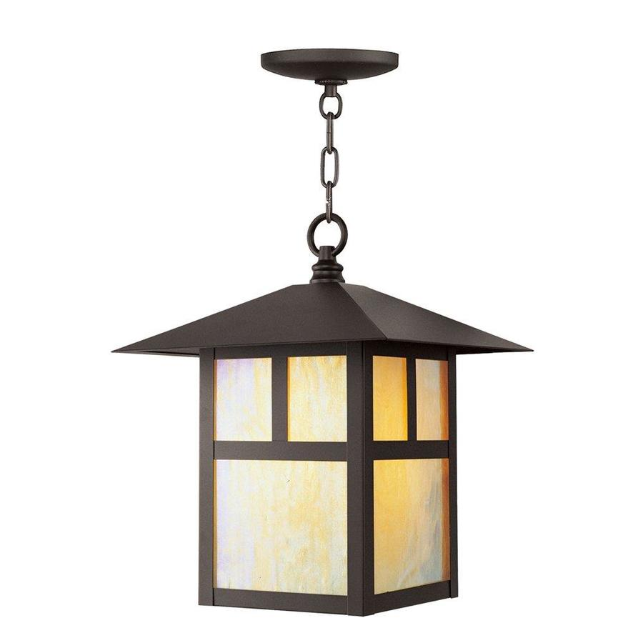 Shop aberdeen 13 in bronze outdoor pendant light at Outdoor pendant lighting