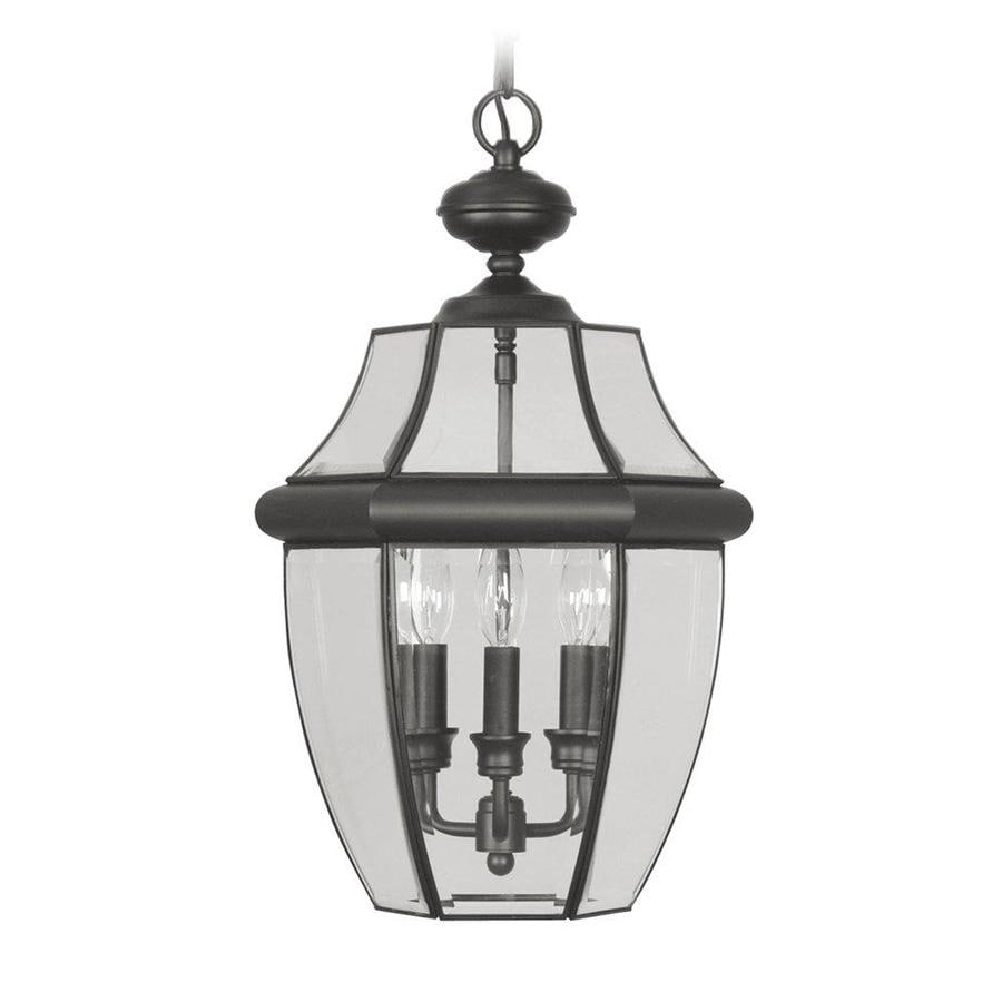 Shop Aberdeen 21-in Black Outdoor Pendant Light At Lowes.com