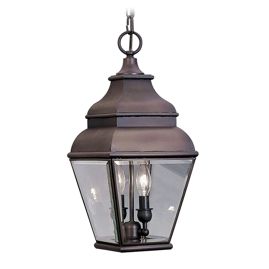 Outdoor Hanging Lanterns Lowes: Aberdeen Bronze Traditional Pendant Light At Lowes.com