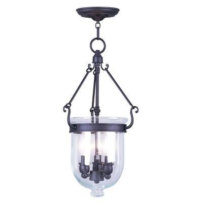 buy popular 8d6b8 e2cbe Livex Lighting Jefferson Bronze Single Transitional Seeded ...