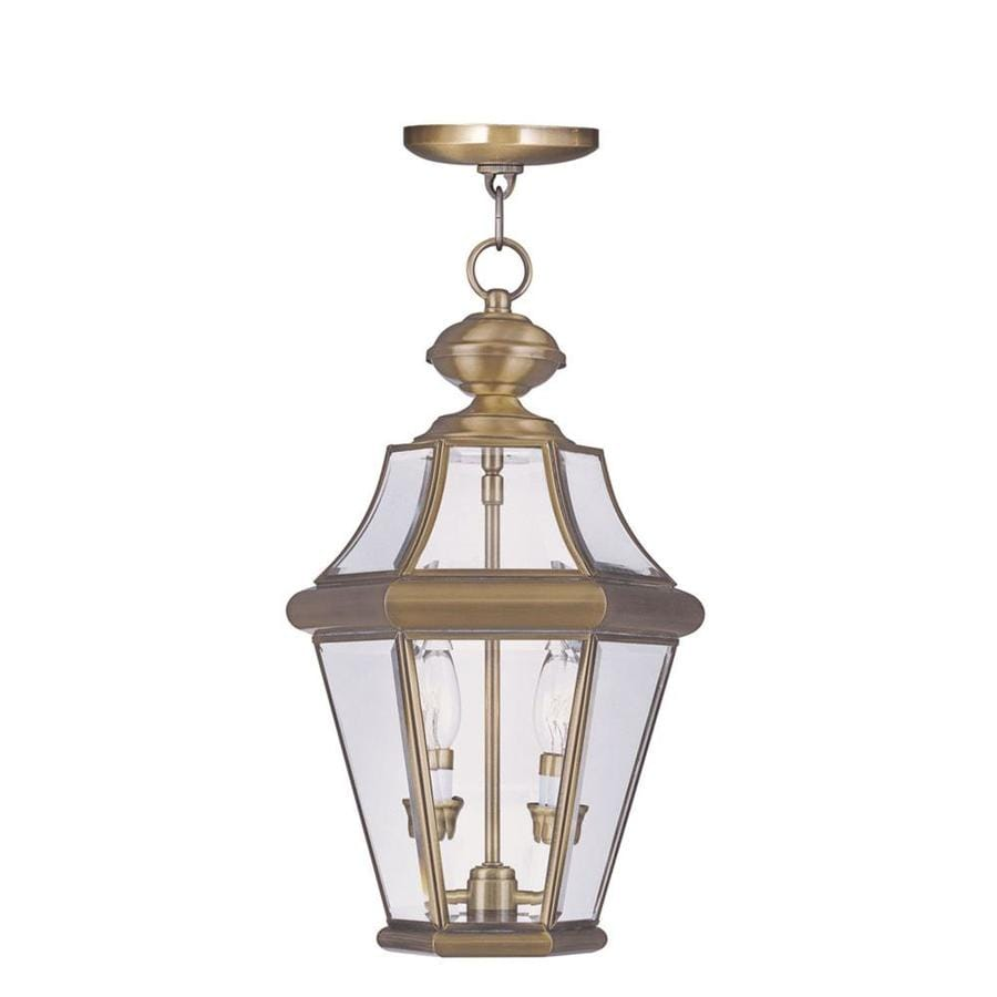 Aberdeen 18.75-in Polished Brass Outdoor Pendant Light