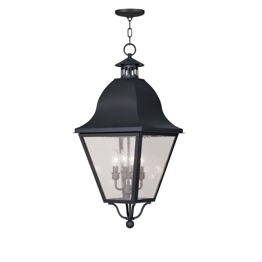 Shop Aberdeen 27.5-in Black Outdoor Pendant Light at Lowes.com