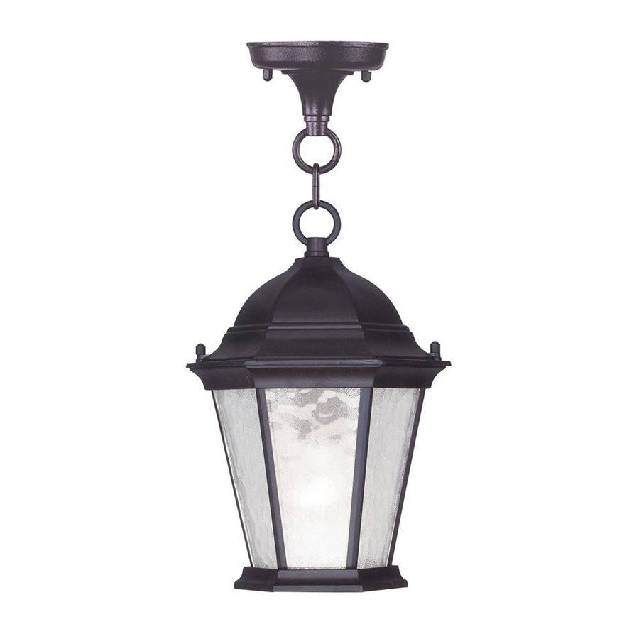 Aberdeen 16.5-in Bronze Outdoor Pendant Light