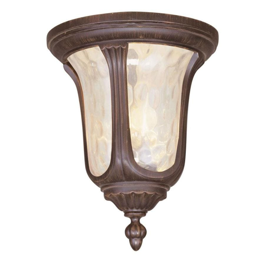 Aberdeen 11-in W Imperial Bronze Outdoor Flush-Mount Light