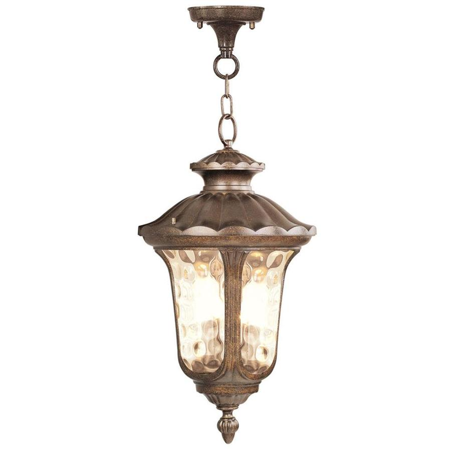 Aberdeen 26-in Moroccan Gold Outdoor Pendant Light