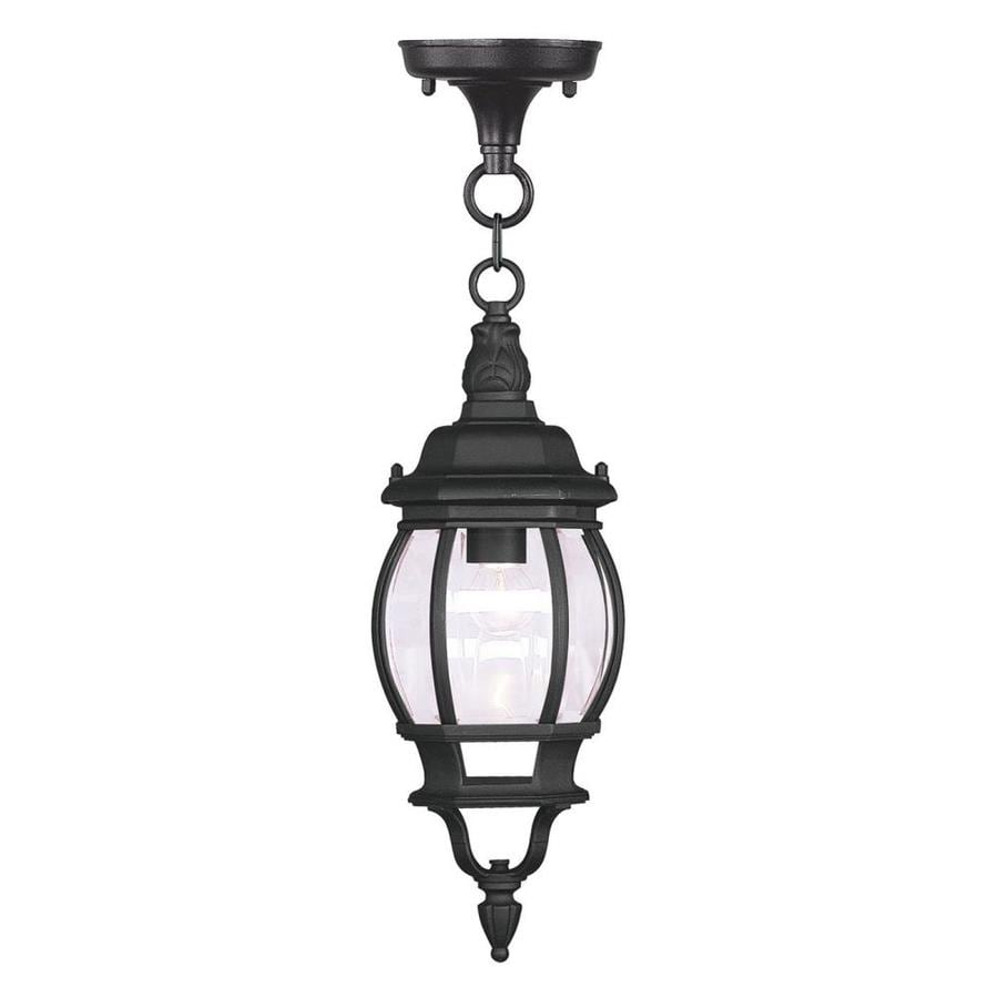 Livex Lighting Frontenac 18-1/2-in Black Outdoor Pendant Light