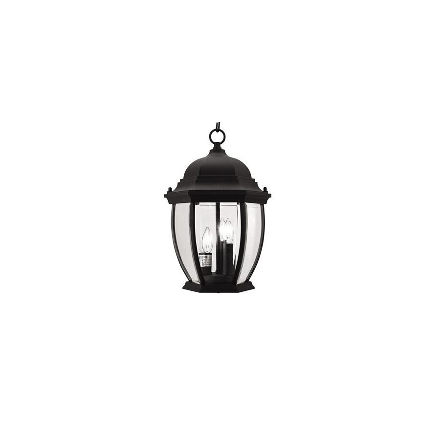Livex Lighting Kingston 14-in Black Outdoor Pendant Light