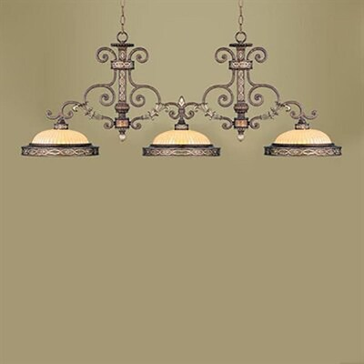 Livex Lighting Seville 13 In W 3 Light Palatial Bronze With
