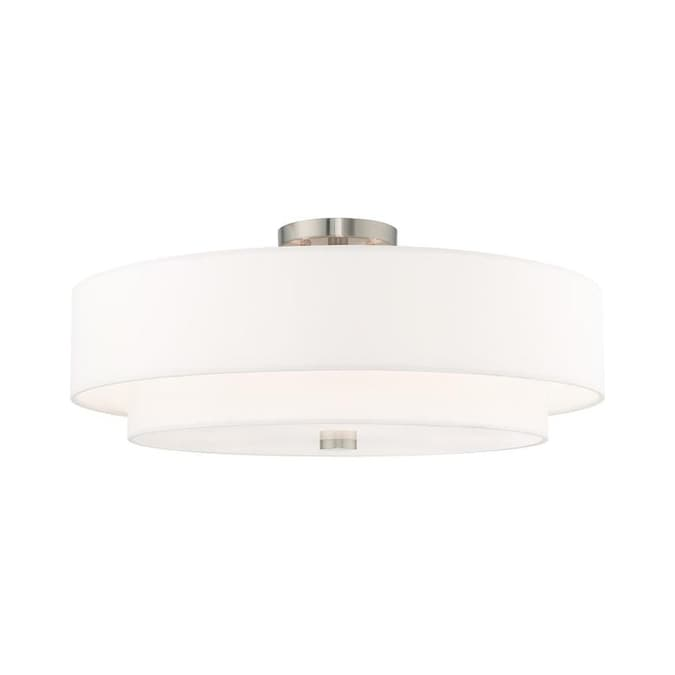 Livex Lighting 5 Light Brushed Nickel Ceiling Mount In The Ceiling Light Mounts Department At Lowes Com