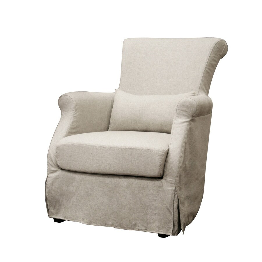Baxton Studio Baxton Modern Cream Linen Accent Chair