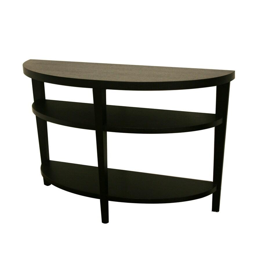 Super Baxton Studio Black Composite Corner Console And Sofa Table Spiritservingveterans Wood Chair Design Ideas Spiritservingveteransorg