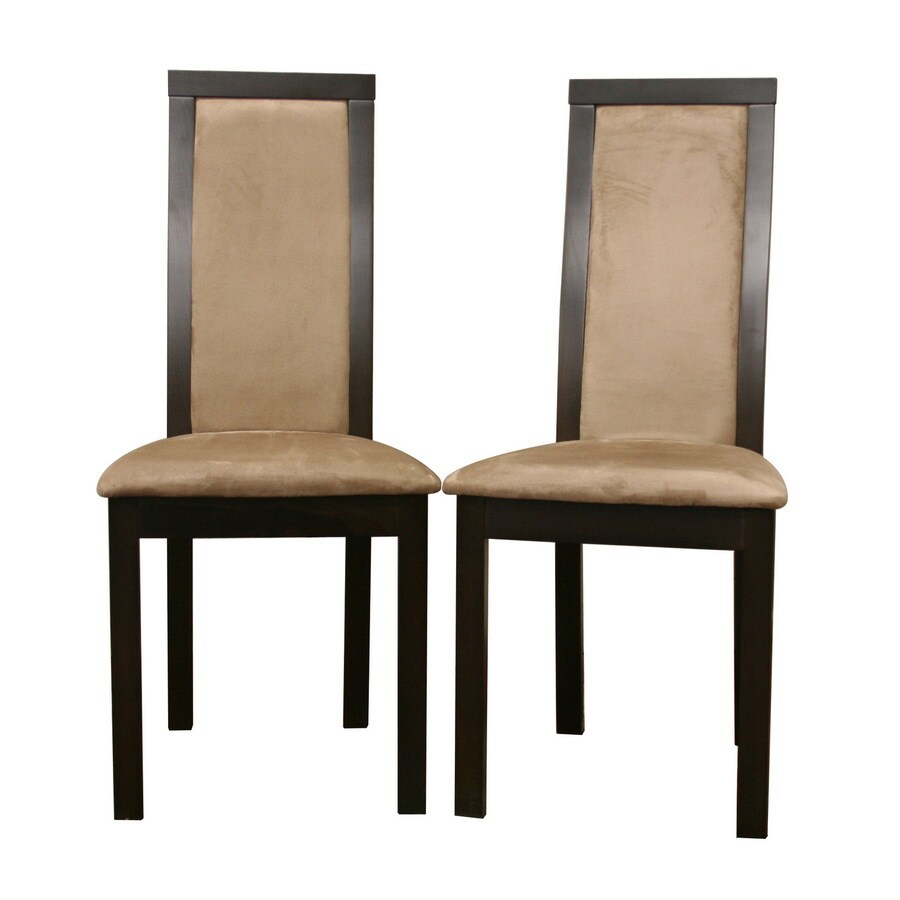 Baxton Studio Set of 2 Contemporary Brown Side Chairs