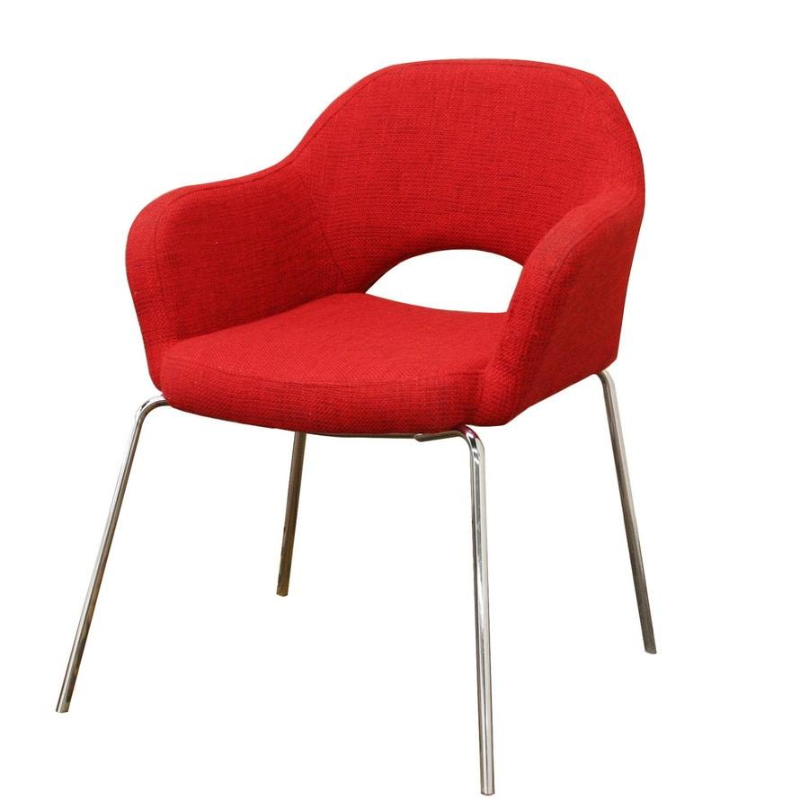 Baxton Studio Modern Red Twill Club Chair