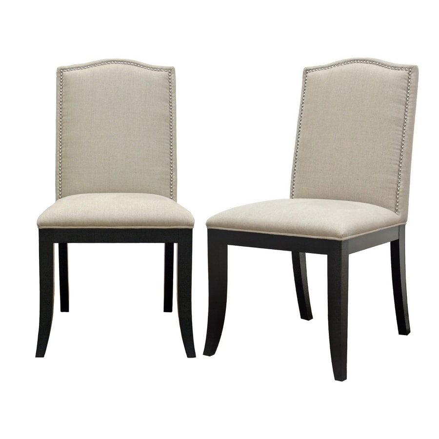 Baxton Studio Set of 2 Baxton Beige Side Chairs
