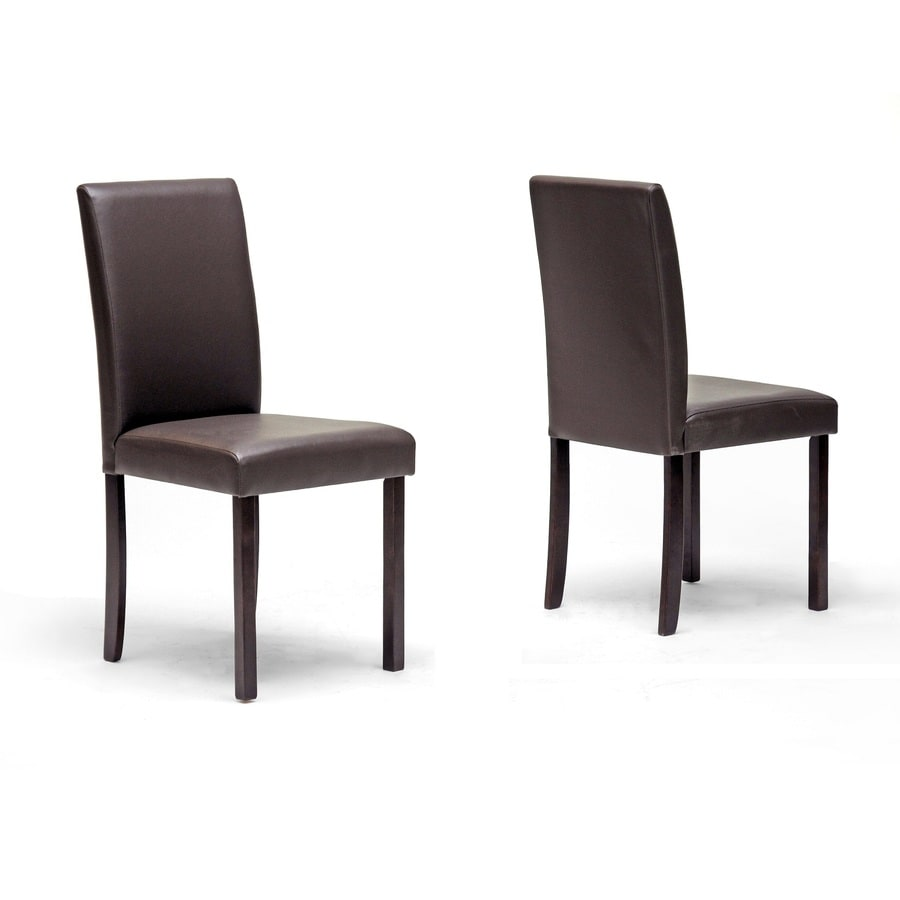 Baxton Studio Set of 2 Brown Side Chairs