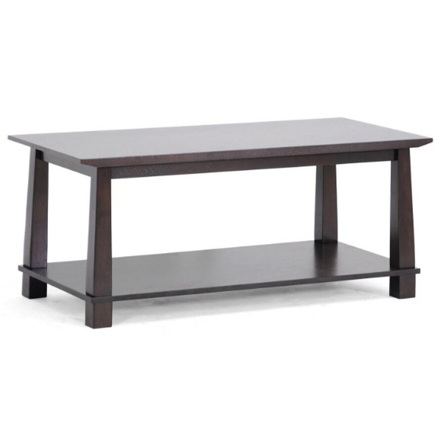 Baxton Studio Wenge Asian Hardwood Rectangular Coffee Table