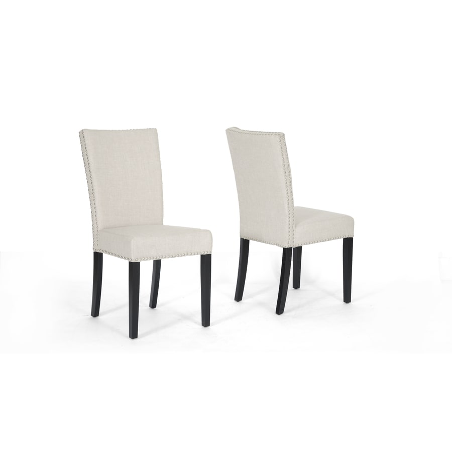 Baxton Studio Set of 2 Harrowgate Beige and Black Side Chairs
