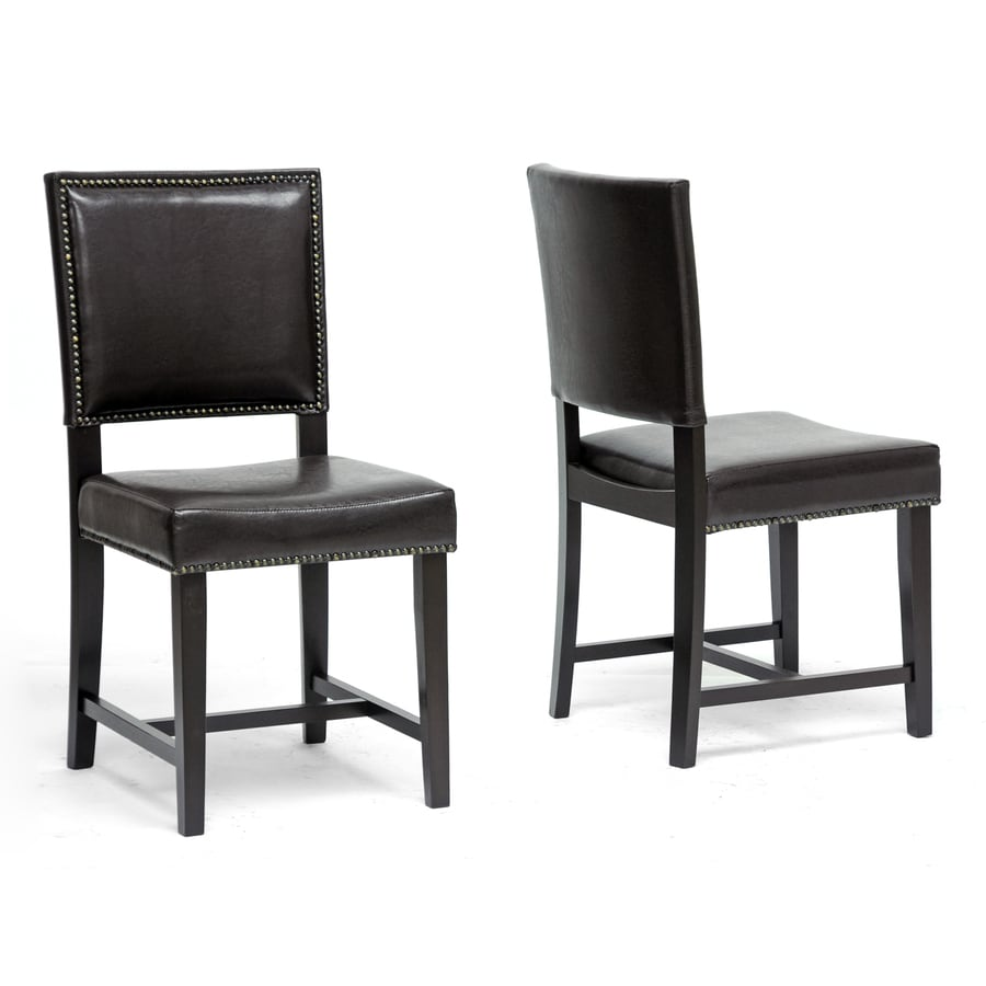Baxton Studio Set of 2 Nottingham Traditional Side Chairs