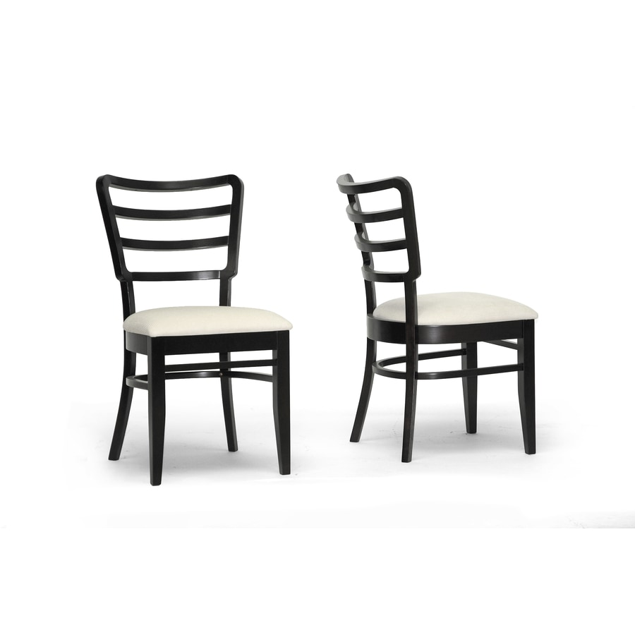 Baxton Studio Set of 2 Coventa Ivory Wenge Side Chair