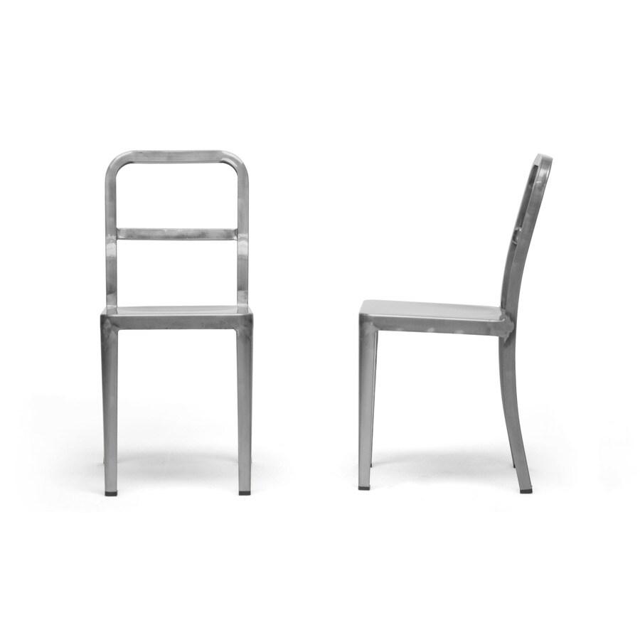 Baxton Studio Set of 2 Echo Gunmetal Side Chairs