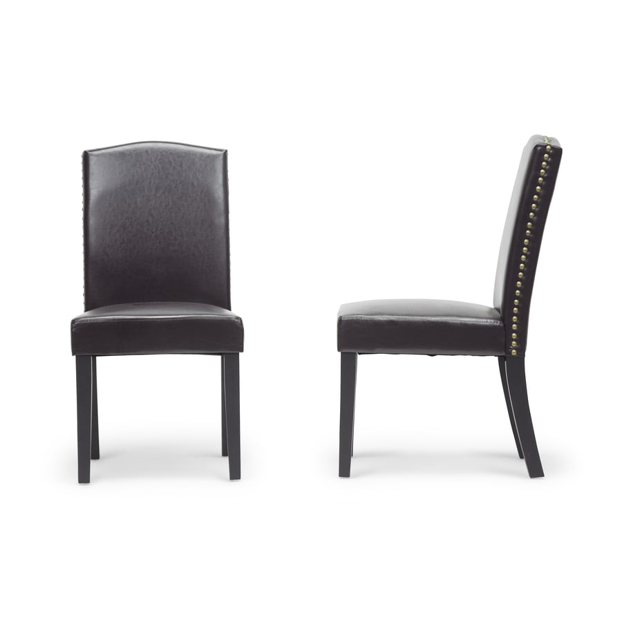 Baxton Studio Set of 2 Trullinger Contemporary Dark Brown Side Chairs