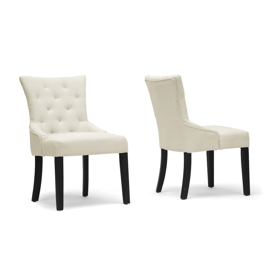 Baxton Studio Set of 2 Epperton Contemporary White Side Chairs