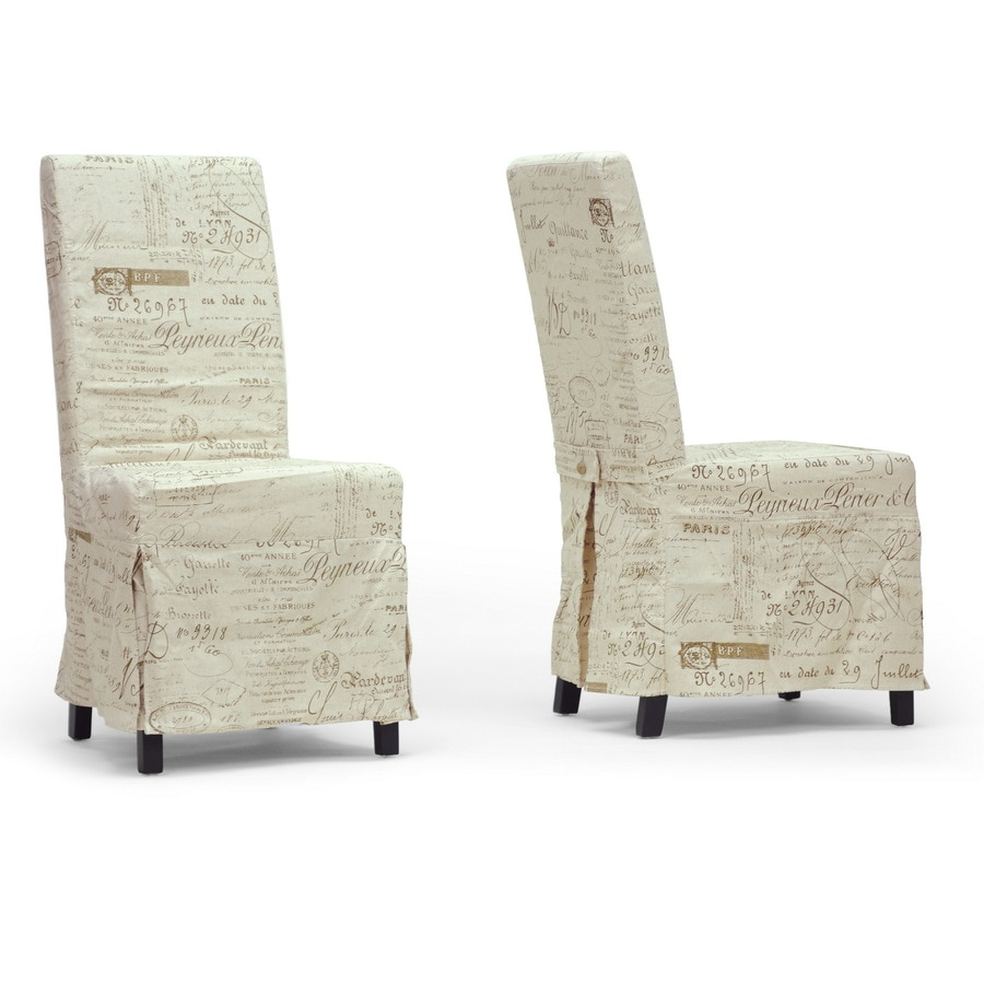 Baxton Studio Set of 2 Picard French Script Side Chair