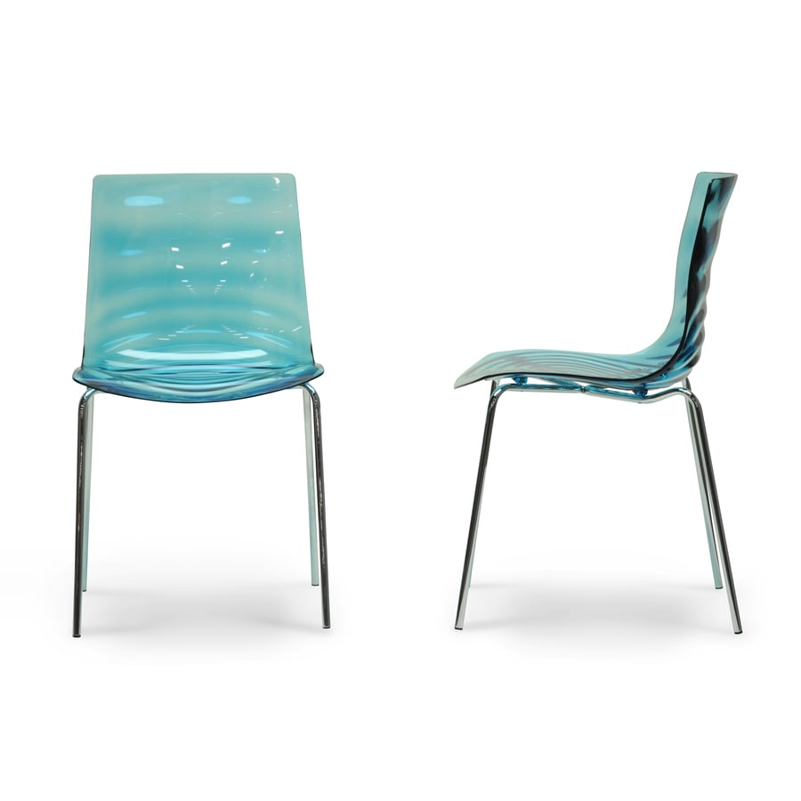 Baxton Studio Set of 2 Marisse Aqua Blue Side Chair